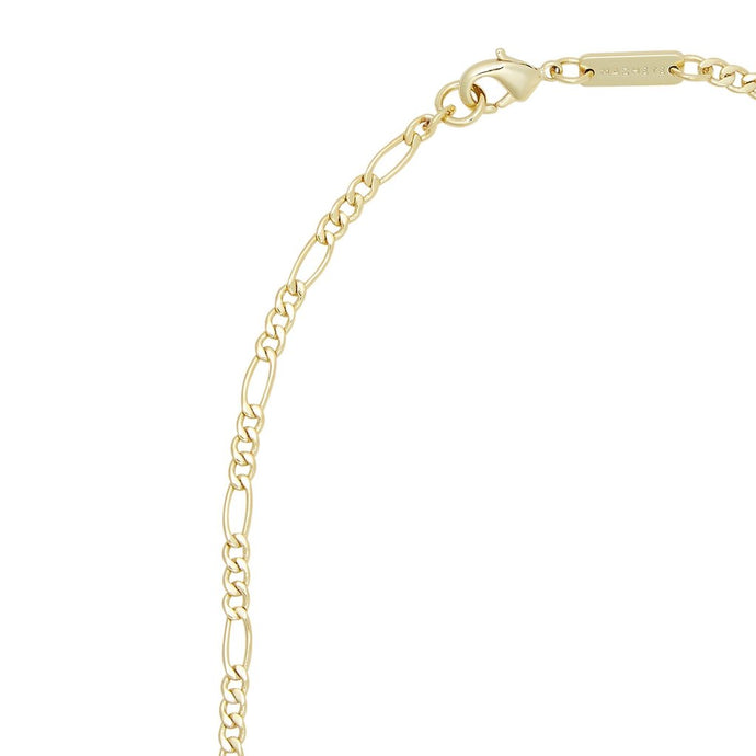 Petite Figaro Link Chain Necklace in Gold