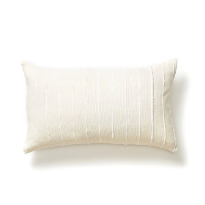 Recycled Stripe Lumar Pillow in Cream