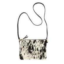 Load image into Gallery viewer, Pouch Purse in Salt + Pepper Cowhide