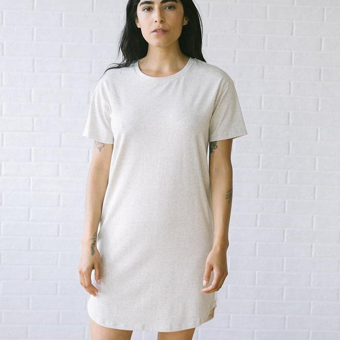 Baja T-shirt Dress in Stone