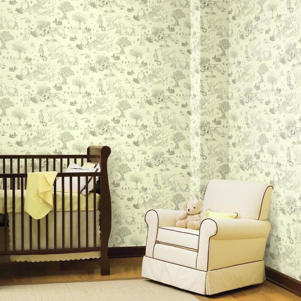 winnie the pooh yellow nursery wallpaper york