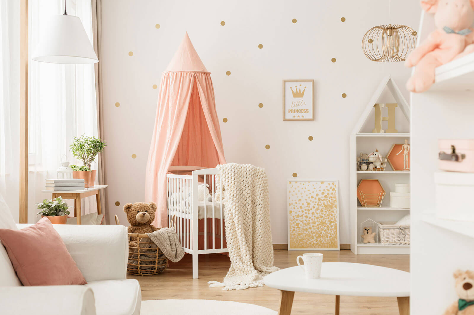 baby nursery wallpaper and wall decor ideas