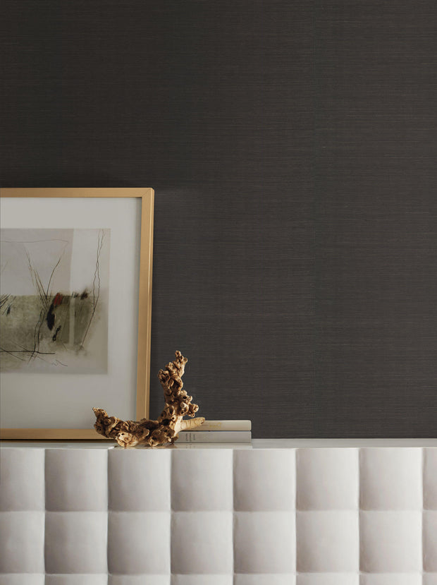 Grasscloth Resource Library Sisal Wallpaper - Black