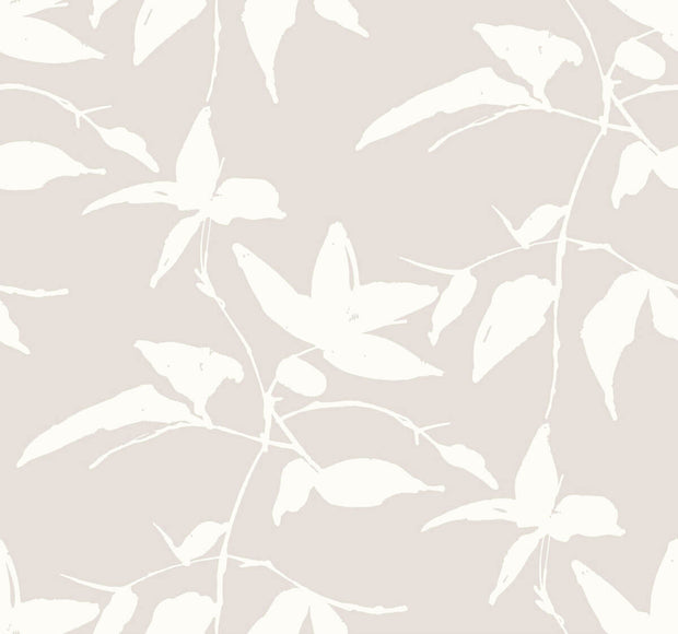 Ronald Redding Persimmon Leaf Wallpaper - Beige
