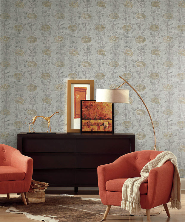 Ronald Redding French Marigold Wallpaper - Gold, White