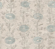 Ronald Redding French Marigold Wallpaper - Blue & Beige