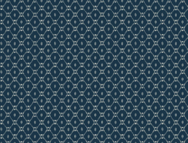 Ronald Redding Fretwork Wallpaper - Blue