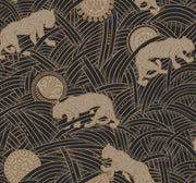 Ronald Redding Tibetan Tigers Wallpaper - Black, Taupe, Gold