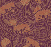 Ronald Redding Tibetan Tigers Wallpaper - Red & Orange