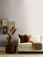 Ronald Redding Oriental Lattice Wallpaper - Beige