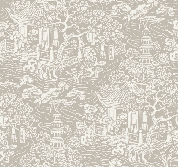 Ronald Redding Chinoiserie Wallpaper - Beige