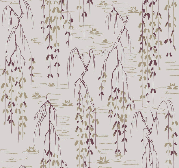 Ronald Redding Willow Branches Wallpaper - SAMPLE ONLY