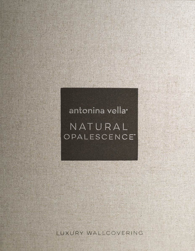 Antonina Vella Opalescent Stria Wallpaper - Mink Brown