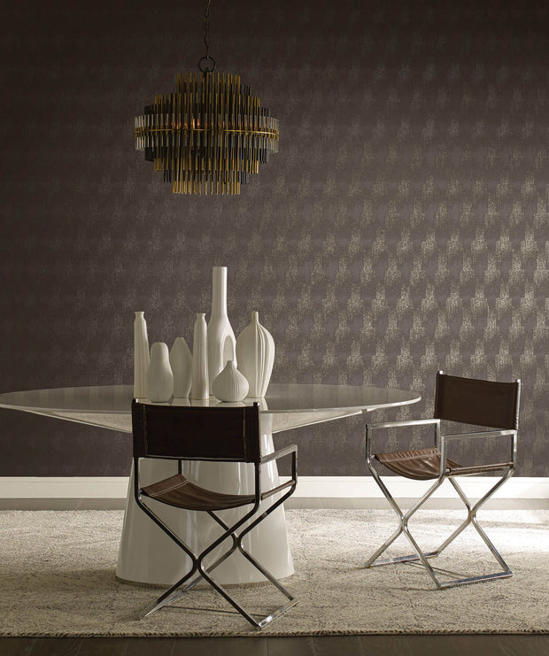 Antonina Vella Flapper Wallpaper - Gray/Silver