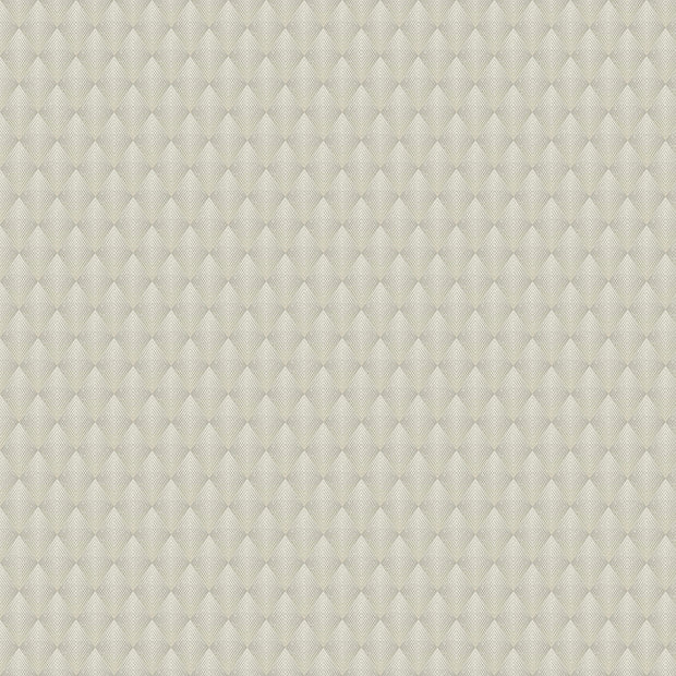 Antonina Vella Club Diamond Wallpaper - Light Beige