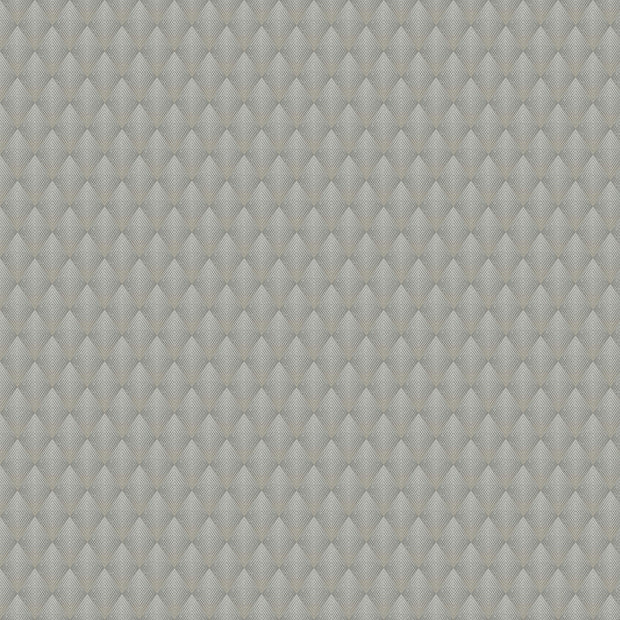 Antonina Vella Club Diamond Wallpaper - Grey