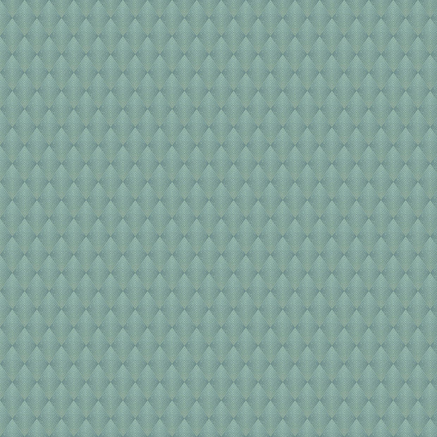 Antonina Vella Club Diamond Wallpaper - Blue