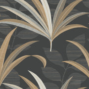 Antonina Vella El Morocco Palm Wallpaper - Black & Gold