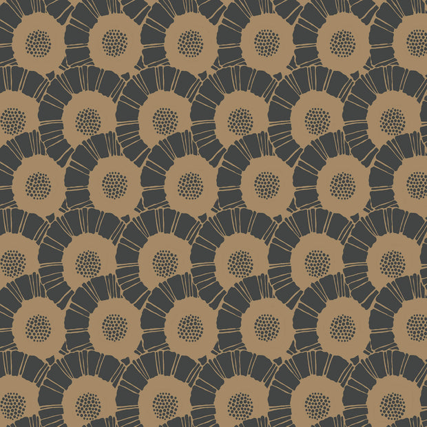 Coco Bloom Wallpaper - Black/Gold