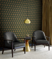 Antonina Vella Coco Bloom Wallpaper - Green & Gold
