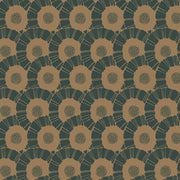 Coco Bloom Wallpaper - Green/Gold