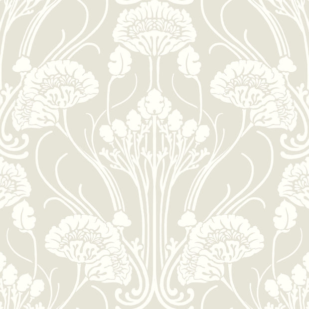 Nouveau Damask Wallpaper - Beige