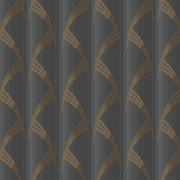 Antonina Vella Metropolis Wallpaper - Black & Gold