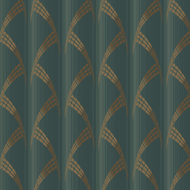 Antonina Vella Metropolis Wallpaper - Green & Gold