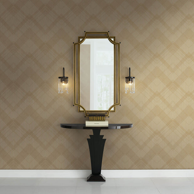Jazz Age Wallpaper - Beige/Gold