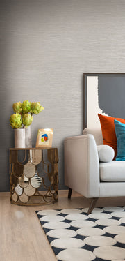 Ramie Weave Wallpaper - Gray