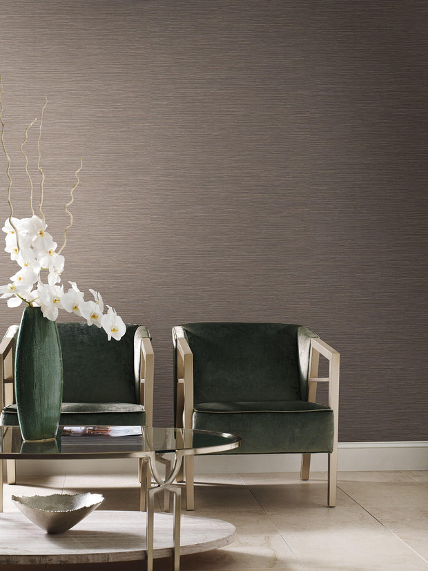 Grasscloth Resource Library Ramie Weave Wallpaper - Warm Gray