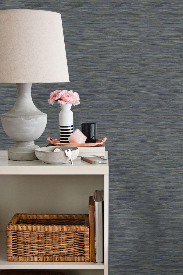 Grasscloth Resource Library Ramie Weave Wallpaper - Blue