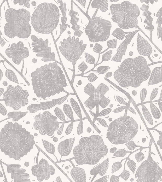 Christiane Lemieux Pernelle Wallpaper - Grey On Taupe