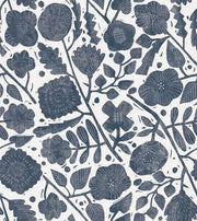 Christiane Lemieux Pernelle Wallpaper - Blue On Taupe