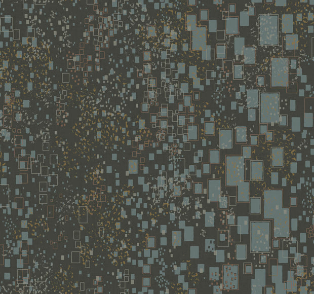 Candice Olson Modern Artisan II Gilded Confetti Wallpaper - Charcoal