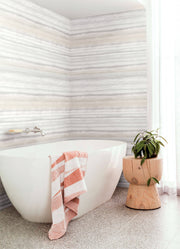 Fleeting Horizon Stripe Wallpaper - Tan
