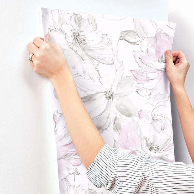 Floral Dreams Wallpaper - Pink & White