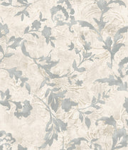 Vine Silhouette Wallpaper - Grey & Beige