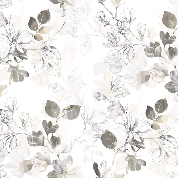 Arbor Vine Wallpaper - Tan & White