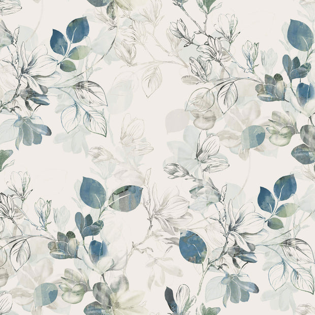 Arbor Vine Wallpaper - Blue & Cream