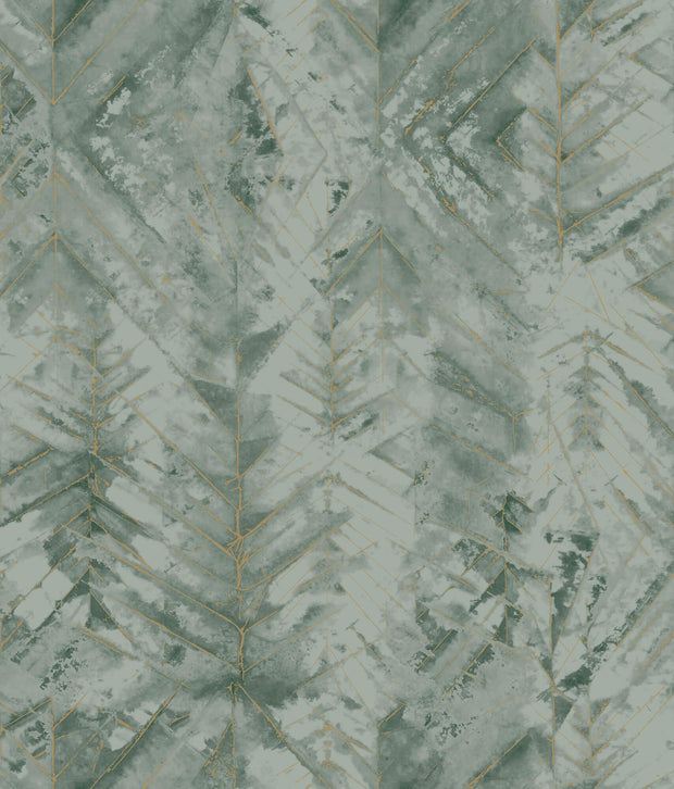 Textural Impremere Wallpaper - Green