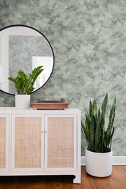 Pressed Petioles Wallpaper - Green
