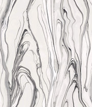Liquid Marble Wallpaper - Black & White