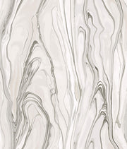 Liquid Marble Wallpaper - Tan & White