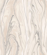 Liquid Marble Wallpaper - Peach