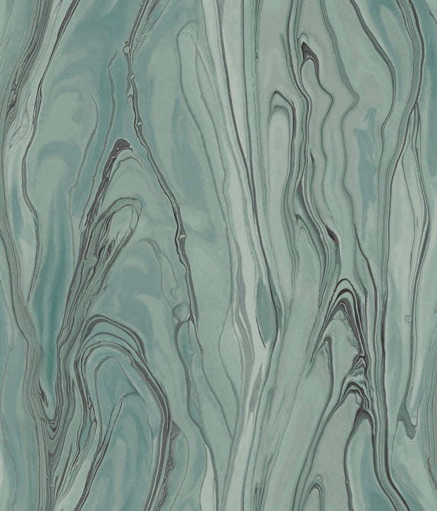 Liquid Marble Wallpaper - Green