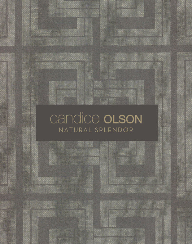 Candice Olson Plain Sisals Wallpaper - Taupe/Silver