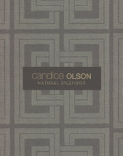 Candice Olson Plain Sisals Wallpaper - White/Silver