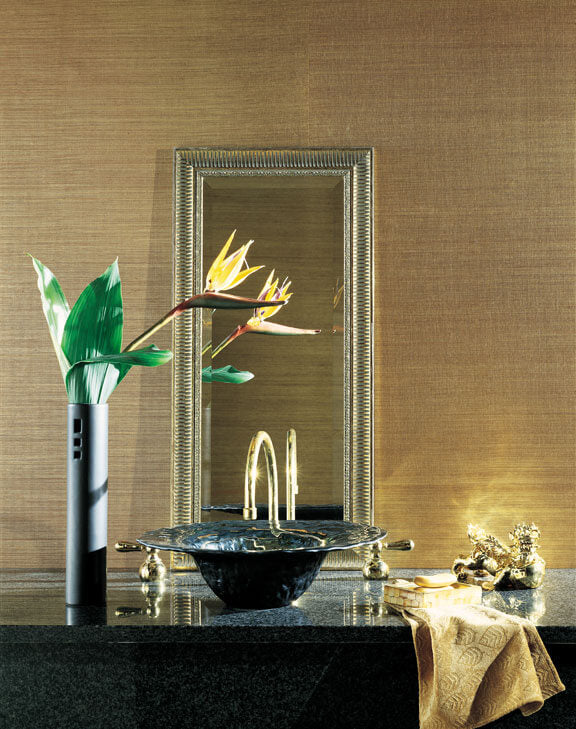 CO2095 Candice Olson Plain Sisals Wallpaper Gold