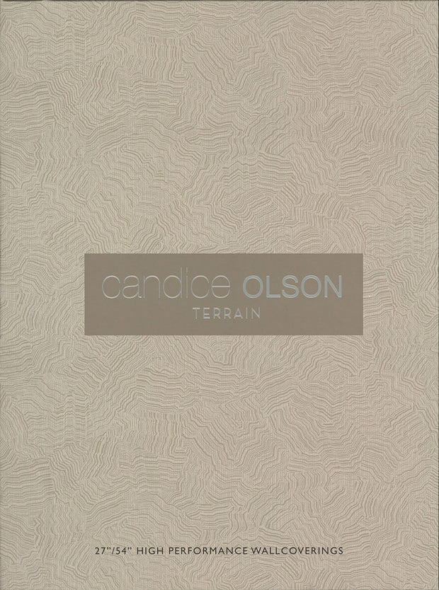 Palm Grove Wallpaper by Candice Olson - Black/Grey